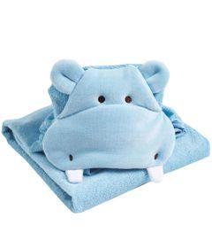 Toalha-Com-Bordado---Hipopotamo---Azul---Belmar