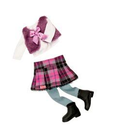 Acessorio-Para-Bonecas---Our-Generation---Colete-de-Pele-com-Saia-e-Botas
