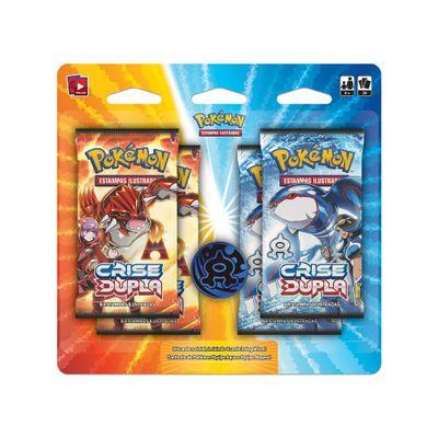 Deck Pokémon - Mini Expansão - Crise Dupla - Aqua - Copag