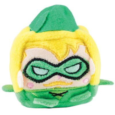 Mini Pelúcia - 5 cm - Cubomania - DC Comics - Liga da Justiça - Arqueiro Verde - Candide
