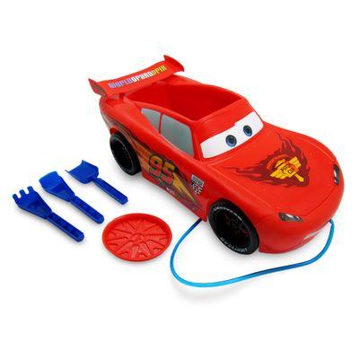 Carrinho de Praia - Disney Cars - Relâmpago McQueen - Toyng