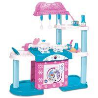 Playset-Mega-Cozinha-com-Lavadora---Disney-Frozen---New-Toys