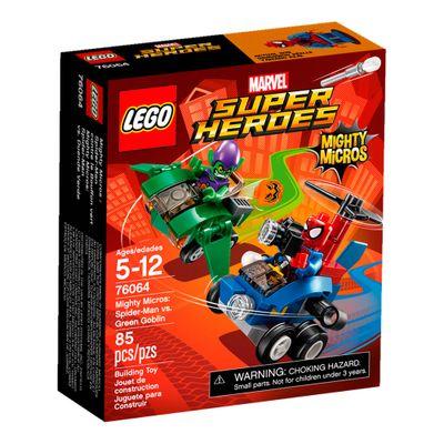 76064 - LEGO Super Heroes - Marvel - Mighty Micros - Homem Aranha Vs Duende Verde