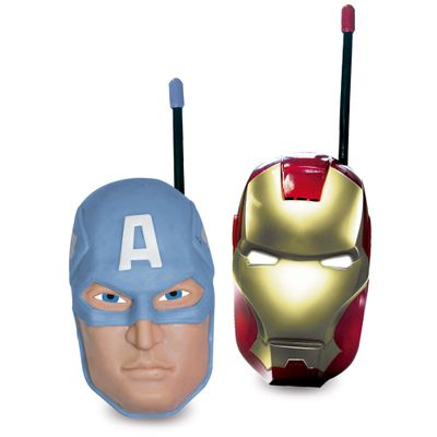 Walkie Talkie - Marvel Avengers - Capitão América e Iron Man - New Toys - Disney