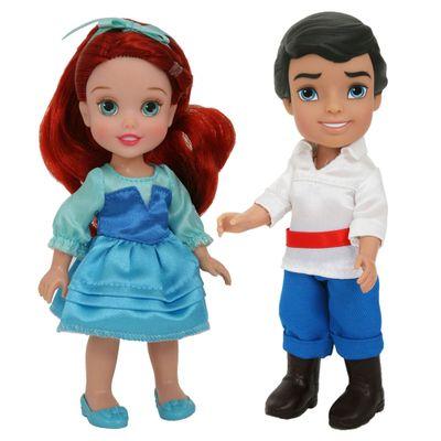 Pack 2 Bonecas - Disney My First Princess - Casais Encantados - Ariel e Principe Eric - New Toys
