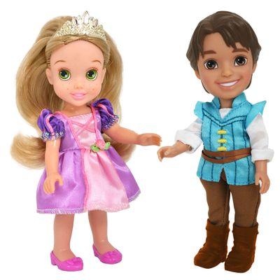 Pack 2 Bonecas - Disney My First Princess - Casais Encantados - Rapunzel e Flynn Rider - New Toys