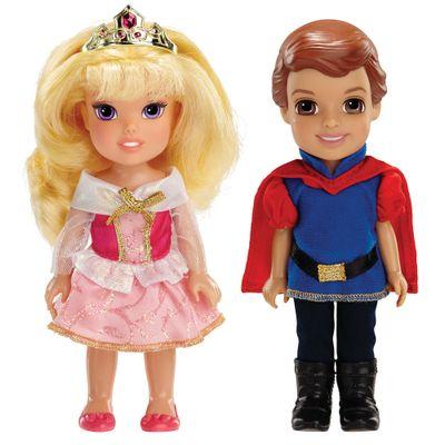 Pack 2 Bonecas - Disney My First Princess - Casais Encantados - Aurora e Principe Phillip - New Toys
