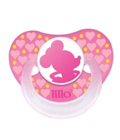 Chupeta-Silicone-Disney-Baby-Minnie---Fase-2---Rosa---Lillo