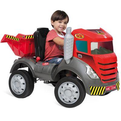 Mini Carro Bandeirante Brutus 12v Com Controle Remoto - Vermelho