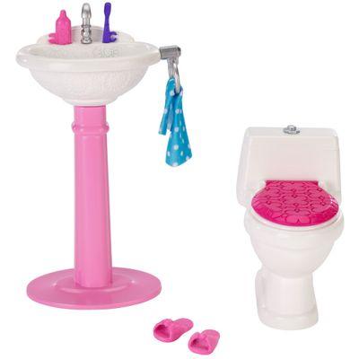 Acessórios para Boneca - Móveis da Barbie - Banheiro - Mattel