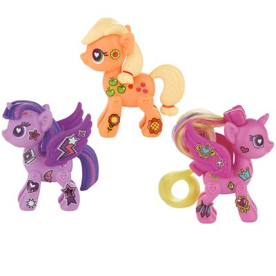 Kit Figuras My Little Pony - Pop Twilight Sparkle e Princess Cadance + Pop Cutie Mark Magic Applejack - Hasbro