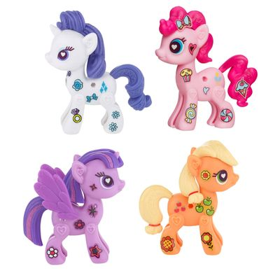 Kit Figura My Little Pony Pop Cutie Mark Magic - Twilight Sparkle, Rarity, Applejack e Pinkie Pie - Hasbro