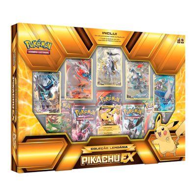 Jogo Deluxe - Box Pokémon - Coleção Lendários - Pikachu EX - Copag
