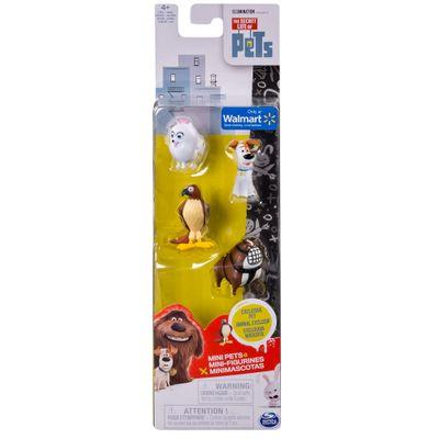 Pack 4 Figuras - 15 cm - Pets - A Vida Secreta dos Bichos - Gidet, Tiberius, Max e Ripper - Sunny