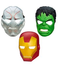 Exclusivo-Mega-Fabrica---Kit-com-Mascaras-Marvel---Avengers---A-Era-de-Ultron---Hulk---Iron-Man-e-Ultron---Hasbro