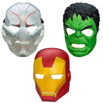 Exclusivo Mega Fábrica - Kit com Máscaras Marvel - Avengers - A Era de Ultron - Hulk - Iron Man e Ultron - Hasbro