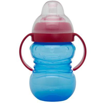 Copo com Tampa e Bico - 275ml - Azul e Vermelho - Girotondo Baby