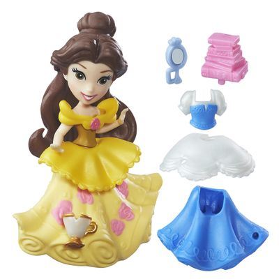 Mini-Boneca-com-Vestidos---Disney-Princesas---Little-Kingdom---Bela---Hasbro