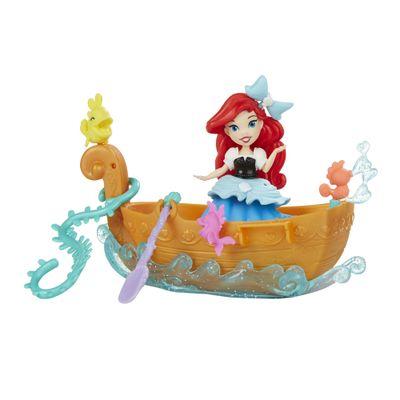 Mini Boneca e Barquinho - Disney Princesas - Little Kingdom - Barco dos Sonhos da Ariel - Hasbro