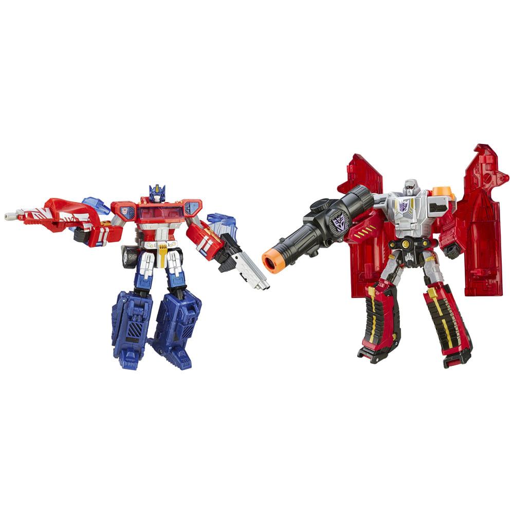 Figuras Transformáveis - Transformers Platinum Edition - Optimus Prime Vs Megatron - Hasbro