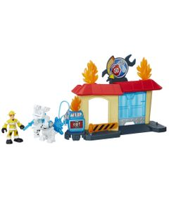 Playset-e-Mini-Figura-Transformavel---Playskool-Heroes--Transformers-Rescue-Bots---Garagem-de-Griffin-Rock---Hasbro