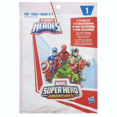 Mini Figura - Playskool Heroes - Marvel Super Heroes Adventure - Série 1 - Hasbro - Disney