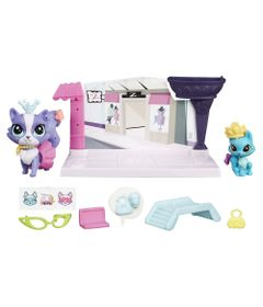 Playset-e-Mini-Figuras---Littlest-Pet-Shop---Pet-Tales---Contos-da-Cidade---Ritzy-Rococo-e-Frilly-Von-Riches---Hasbro