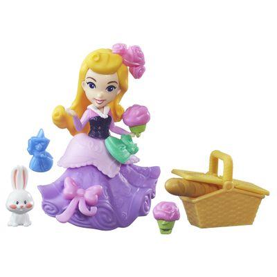 Mini Boneca com Acessórios - Disney Princesas - Little Kingdom - Aurora com Cesta de PicNic - Hasbro