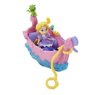 Mini Boneca e Barquinho - Disney Princesas - Little Kingdom - Barco dos Sonhos da Rapunzel - Hasbro