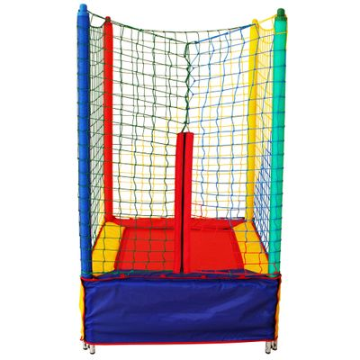 Cama Elástica Quadrada - 1 m - Multicolorida - Henri Trampolim