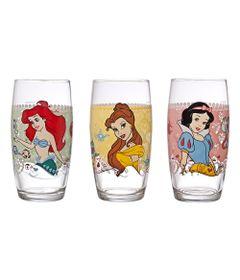 Conjunto-de-Copos-Decorados---430-ml---03-Pecas---Princesas-Disney---Nadir-Figueiredo