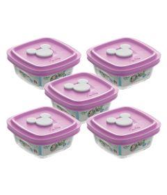 Conjunto-de-05-Potes---300-ml---Facilita-Baby---Tampa-Rosa---Disney-Baby---Nadir-Figueiredo