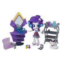 Cenario-com-Mini-Equestria-Girls---My-Little-Pony---Colecao-de-Beleza-Festa-do-Pijama---Rarity---Hasbro
