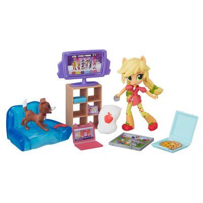 Cenário com Mini Equestria Girls - My Little Pony - Coleção de Jogos - Applejack - Hasbro