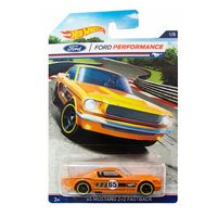 Veiculos-Hot-Wheels---Serie-Classicos-Ford-Mustang-Racing---65-Mustang-2-2-Fast-Back---Mattel