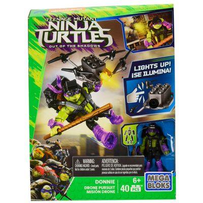 Mega Bloks - Tartarugas Ninja - Out Of The Shadows - Donnie - Perseguição de Drone - Mattel