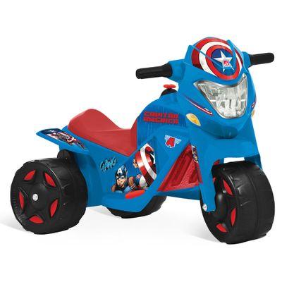 Moto Elétrica 6 V - Marvel - Avengers - Capitão América - Bandeirante - Disney