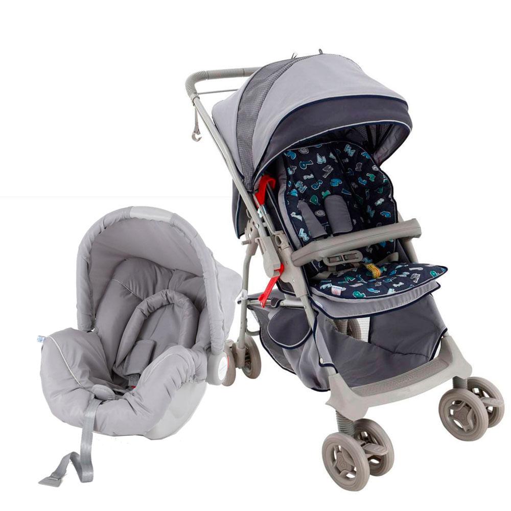 Travel System Maranello com Bebê Conforto Picollina - De 0 à 13 Kg - Azul - Galzerano