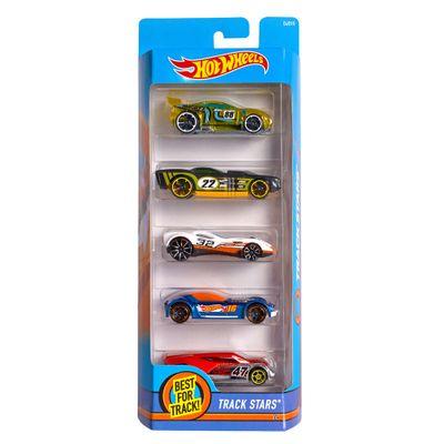 Carrinhos-Hot-Wheels---Pacote-com-5-Carros---Track-Stars---Mattel
