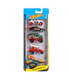 Carrinhos-Hot-Wheels---Pacote-com-5-Carros---Stunt-Devil-5---Mattel
