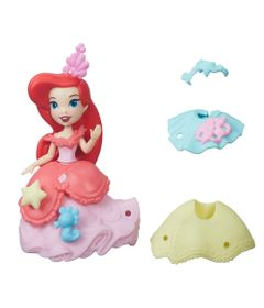 Mini-Boneca-com-Vestidos---Disney-Princesas---Little-Kingdom---Ariel---Hasbro