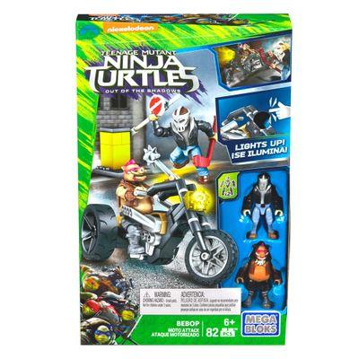 Mega Bloks - Tartarugas Ninja - Out Of The Shadows - Ataque Motorizado - Bebop - Mattel