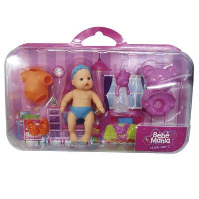 Boneca - Bebê Mania Peniquinho - Azul - Roma Jensen