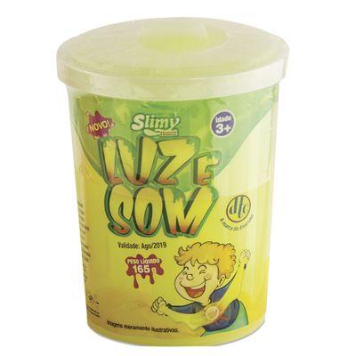 Geleca - Slimy Power com Luz e Som - Amarela - DTC