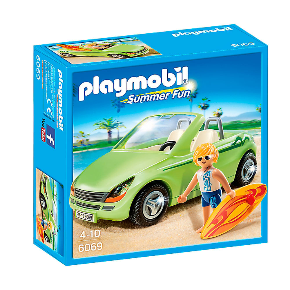 Playmobil - Summer Fun - Carro com Surfista - 6069 - Sunny
