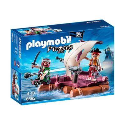 Playmobil - Pirates - Jangada com Piratas - 6682 - Sunny