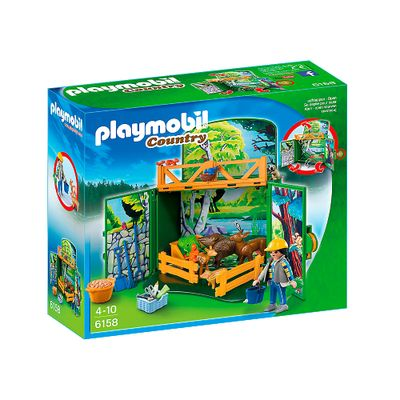 Playmobil - Country - Floresta com Animais - 6158 - Sunny