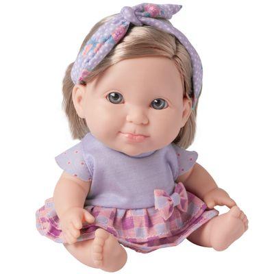 Boneca Bebê - Betsy Doll - Um dia no Pediatra - Roxa - Candide