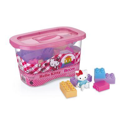 Blocos de Montar - Hello Kitty - 43 Blocos - Monte Líbano