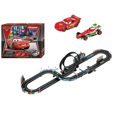 Pista de Corrida com Looping Duplo - Carrera Go - Disney - Carros - New Toys